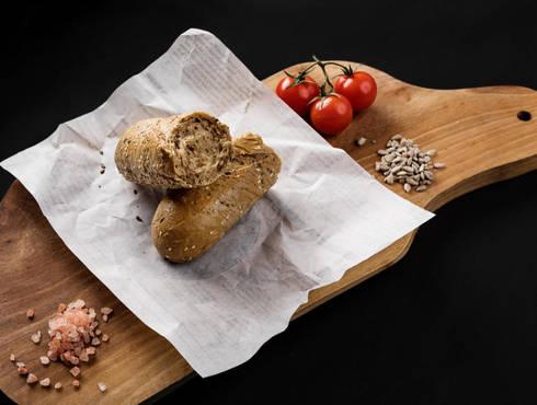 Baguette bread, whole grain photo