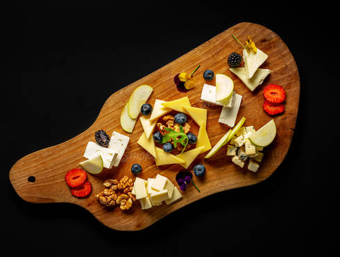 Selected cheese platter photo