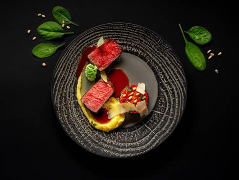 Grilled beef steak photo