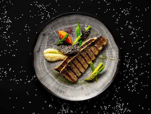 Trout fillet with tomato fondue photo