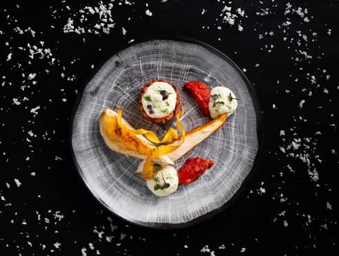 Sous vide Chicken fillet Parmigiano photo